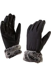 SealSkinz Womens Sea Leopard Lux Gloves Black