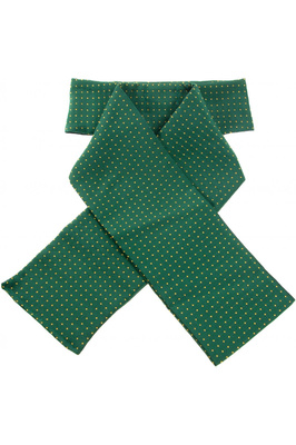 ShowQuest Pin Spot Stock Ready Tied Bottle Green / Yellow