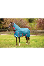 Weatherbeeta Comfitec Plus Dynamic Combo Neck Heavy - Teal / Cerise / Yellow