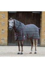 Weatherbeeta Comfitec Pp Channel Quilt II Detach-A-Neck Medium Grey / Burgundy