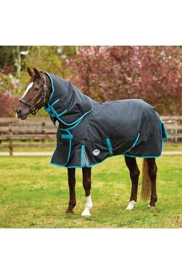 Weatherbeeta Comfitec Premier Free Detach-A-Neck Medium Black / Turquoise
