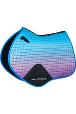 Weatherbeeta Prime Ombre Jump Shaped Saddle Pad - Lagoon Mist