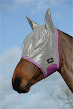 Weatherbeeta Comfitec Essential Mesh Mask Silver / Purple / Blue