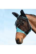 Weatherbeeta Comfitec Fine Mesh Mask With Ears - Black / Turquoise