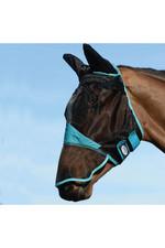 Weatherbeeta Comfitec Fine Mesh Mask With Ears & Nose - Black / Turquoise