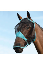 Weatherbeeta Comfitec Fine Mesh Mask With Nose - Black / Turquoise