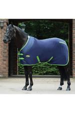 Weatherbeeta Fleece Cooler Standard Neck Navy / Lime