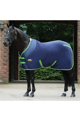 Weatherbeeta Fleece Cooler Standard Neck Navy / Lime