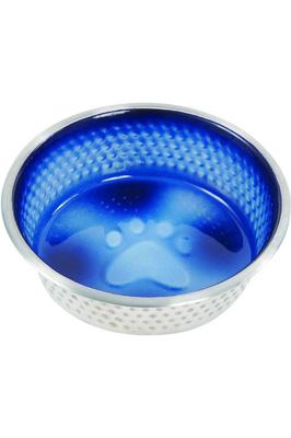 Weatherbeeta Non-Slip Stainless Steel Shade Dog Bowl - Royal Blue