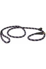 Weatherbeeta Rope Leather Slip Dog Lead - Navy / Brown