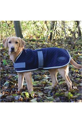 Weatherbeeta Thermic Dog Coat Navy / Grey / White