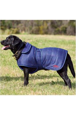 Weatherbeeta Tweed Dog Coat Navy
