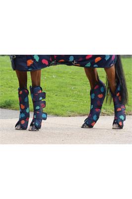 Weatherbeeta Wide Tab Long Travel Boots Hedgehog Print