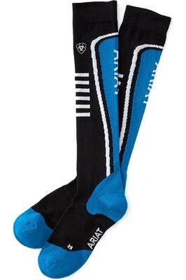 Ariat Womens Ariattek Slimline Socks Atomic / Black