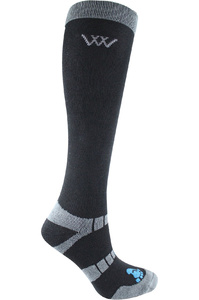Woof Wear Long Bamboo Waffle Riding Socks Black
