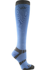 Woof Wear Long Bamboo Waffle Riding Socks Blue