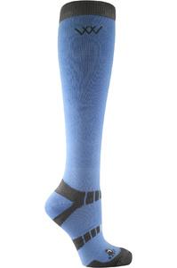 Woof Wear Long Bamboo Waffle Riding Socks Blue