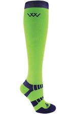 Woof Wear Long Bamboo Waffle Socks WW0017 Lime
