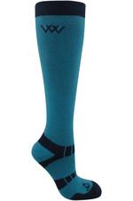 Woof Wear Long Bamboo Waffle Socks WW0017 Ocean