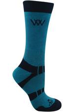Woof Wear Short Bamboo Waffle Socks WW0016 Ocean