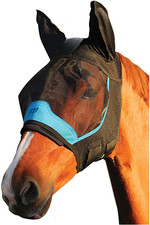 Woof Wear UV Fly Mask With Ears - Black / Turquoise