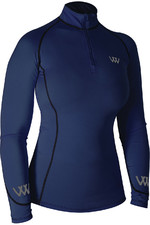 Woof Wear Womens Performance Riding Shirt Navy