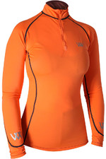 Woof Wear Womens Performance Riding Shirt Orange