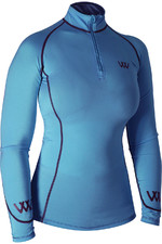 Woof Wear Womens Performance Riding Shirt Powder Blue