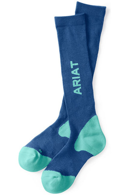 Ariat AriatTek Performance Socks Blue / Teal
