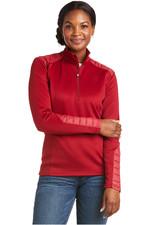 2021 Ariat Womens Ismay 1/2 Zip Sweatshirt 1003725 - Rhubarb