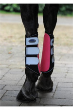 Weatherbeeta Reflective Single Lock Brushing Boots Pink / Silver 1004916