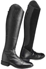 Caldene Casoria Long Riding Leather / Suede Boots Black