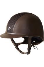 Charles Owen AYR8 Plus Leather Look Helmet - Brown