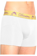 Derriere Equestrian Mens Bonded Padded Shorty White