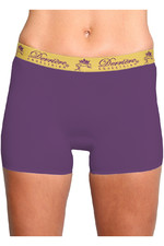 Derriere Equestrian Womens Bonded Padded Shorty Purple