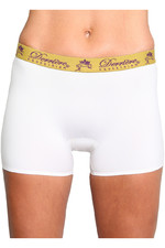 Derriere Equestrian Womens Bonded Padded Shorty White