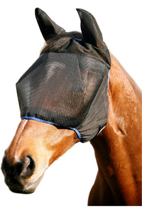 Equilibrium Field Relief Midi Fly Mask With Ears Black / Blue