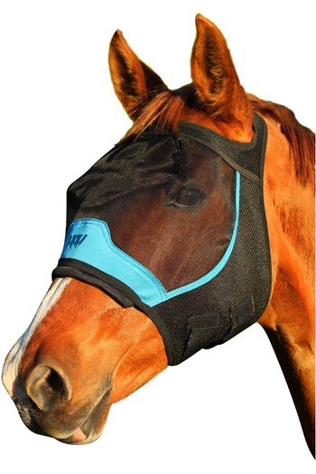Woof Wear UV Fly Mask Without Ears - Black / Turquoise