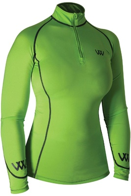 Woof Wear Womens Performance Riding Shirt Lime