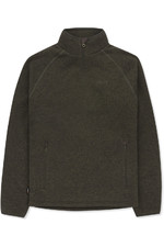 Musto Super Warm Polartec Windjammer Half Zip Fleece Jacket Forest Green