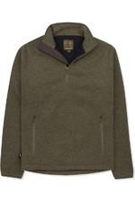 Musto Super Warm Polartec Windjammer Half Zip Fleece Jacket Moss